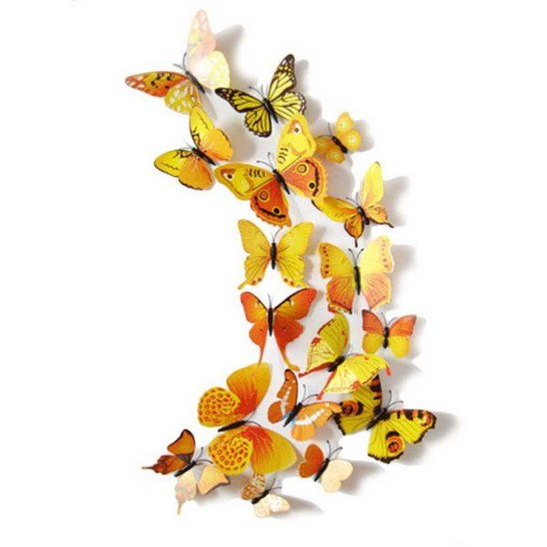 Duvar Sticker Kelebek Sarı