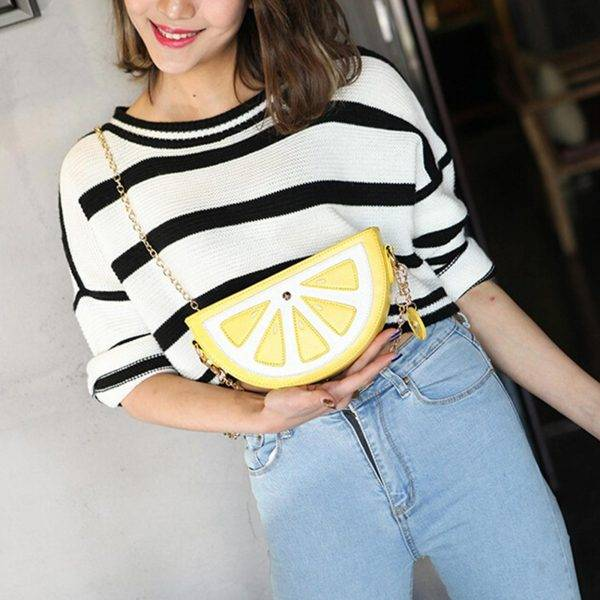 limon dilimi kol çantası