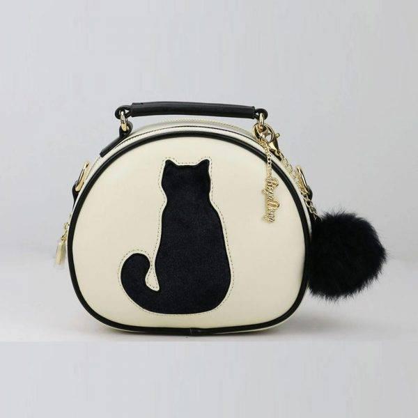 Beyaz Kedili çanta