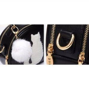 Siyah kedili çanta