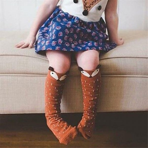 hayvan desenli bebek çorabı